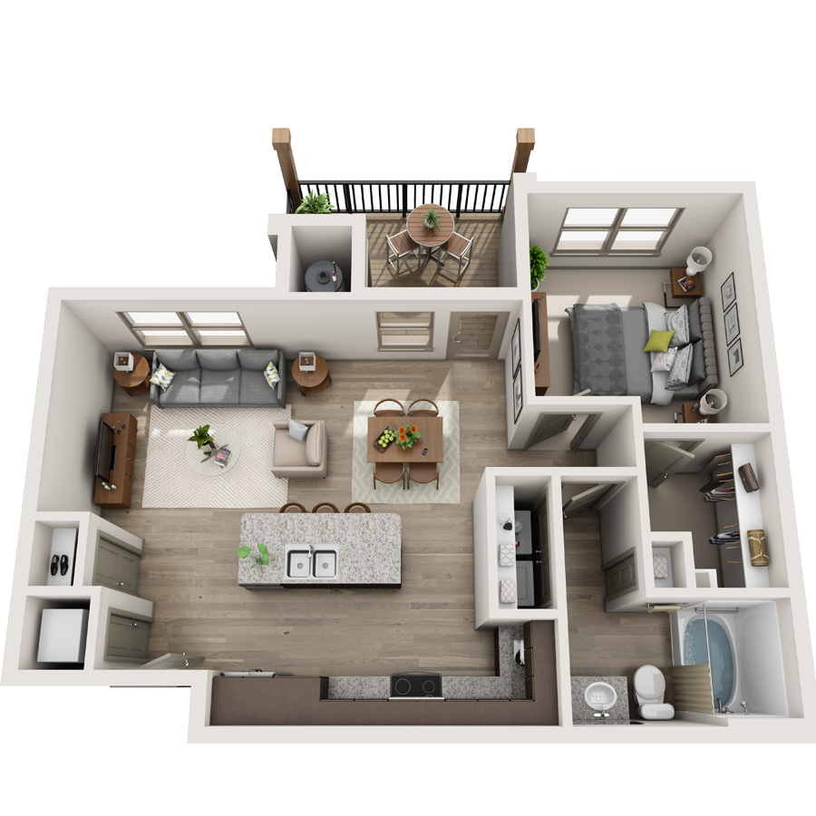 A Collection 02 unit with 1 Bedrooms and 1 Bathrooms with area of 400 sq. ft