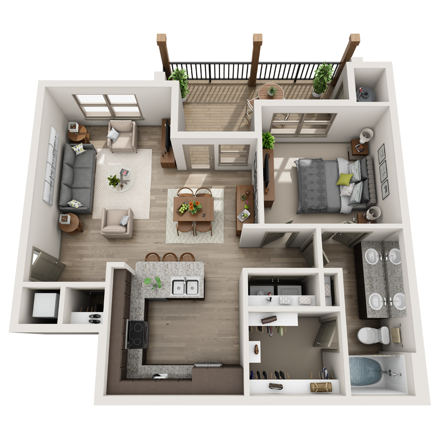 A Collection 03 unit with 2 Bedrooms and 2 Bathrooms with area of 780 sq. ft